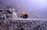 Auf dem Rotstock - Klettersteig schnell gewinnt man an Höhe