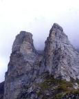 Rotstock-Klettersteig - der Rotstock, aufgenommen beim Zustieg von der Kleinen Scheidegg
