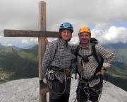 Heike und Andreas Richter auf dem Gipfel des Rotstock am Fuße der Eigernordwand