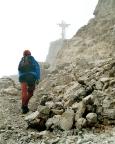 Sextener Rotwand - auf den letzten Metern zum Gipfelkreuz