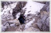 Die letzten Meter zum Gipfel auf den Gipfel des Toblinger Knotens