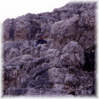 Am Toblinger Knoten Abstieg über den Feldkurat Hosp Steig