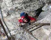 Bildeincruck vom Leiternsteig - Dolomitenfreunde-Klettersteig - auf den Toblinger Knoten.