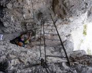 Aber was auch immer: dominierend sind die teils bizarren Leiterpassagen des Dolomitenfreunde-Klettersteiges
