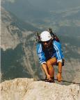 Hans-Torsten Krüger auf dem Watzmanngrat, kurz vor dem Erreichen des Gipfels der Südspitze
