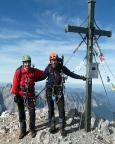 Auf dem Gipfel der Watzmann Südspitze - gemeinsam mit Torsten Riemer im Oktober 2009