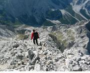 Watzmann-Überschreitung - das Finale beginnt mit dem Abstieg von der Südspitze