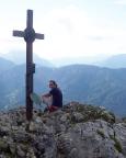 Thomas am Gipfelkreuz