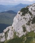 Blick auf die Nordkante des Buchsteins, die das eigentliche Kletterziel war