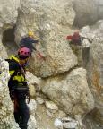 Geoße Zinne - Normalweg - der Block aus Entfernung aufgenommen