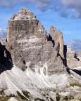 Geoße Zinne - Normalweg - Blick in die Südwand, durch die der Normalweg führt
