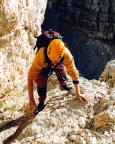 Geoße Zinne - Normalweg - Steffen in der 40m Einstiegsrampe