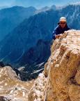Geoße Zinne - Kletterpassage vor dem schwarzen Spalt