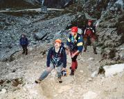 Geoße Zinne - Normalweg - Zustieg von der Lavaredo-Kapelle 2004
