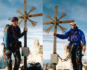 Geoße Zinne - Gipfelfoto, gemeinsam mit Volker im Oktober 2003