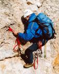 Geoße Zinne - Normalweg - der Block vor dem Gipfel