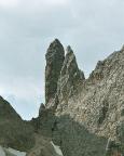 Torre Diavolo und Il Gobbo (rechts) in der Cadinigruppe, Dolomiten