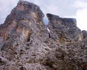 Il Gobbo Nordwand - Blick vom Einstieg in die Route