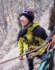 Il Gobbo Nordwand - hier sichere ich Thomas beim Vorstieg nach dem Kamin in die Schlusswand zum Grat