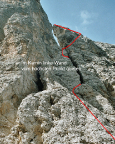 Il Gobbo Nordwand - die Route