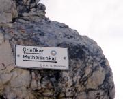 Jubiläumsgrat - Ausstiegsmöglichkeit, wenn es nicht mehr über die Alpspitze gehen soll