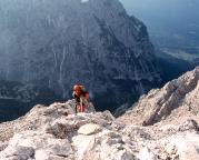 Jubiläumsgrat - Abstieg aus der Grießkarscharte ins Höllental