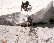Jubiläumsgrat - Aufstieg am Vortag zur Zugspitze durch das Höllental