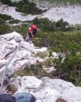 Gelegentliche Latchen nehmen den weiteren Klettergenuss nicht.