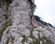 Thomas steigt die erste und schwerste - aber wunderschöne - Seillänge vor.