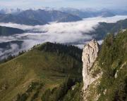 Rosssteinnadel aus Sicht der Tegernseeer Hütte - ein gewaltiger und schöner Felsen.