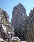 Zustieg zur Kletterei - Scharte zum Roßstein