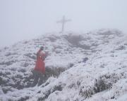 Wanderung im Nebel und Schnee auf die Rotwand - das geplante Kletterabenteuer schien im Winter zu versinken.