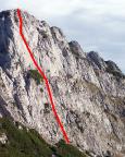 Die von uns gewählte Route farblich gekennzeichnet.
