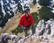 Geschafft - Alpinneuling Torschti erreicht als Radfahrer verkleidet den Gipfel ;-)))