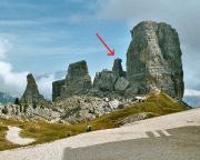 Torre Barancio - Dibona - Blick auf die Cinque Torri