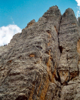 Torre Barancio - Dibona - Blick in die Nordwand