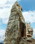 Torre Barancio - Dibona - der obere Bereich des Turms von Süden