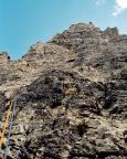 Torre Barancio - Dibona - Aufgabe: finde den Vorsteiger.