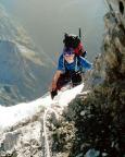 Eine Sicherung der Kletterei im Firn war eigentlich unnötig