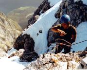 2001 - Axel oberhalb der 15-m-Wand, dort ist es geschafft