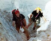 2004 - Thomas und Michel wenige Meter vor Erreichen des Watzmanngrats
