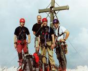 Die Watzmann-Ostwand ist geschafft, auf dem Gipfel der Südspitze