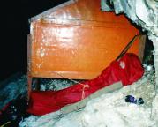 2001 war wegen des späten Einstiegs eine Nacht im Biwak unvermeidbar!