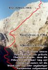 Watzmann Ostwand, Berchtesgadener Weg, sehr grobe Übersicht