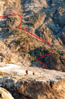 Berchtesgadener Weg, die grobe Führe nach dem Schuttkar