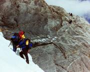 Mittellegigrat - die Schlüsselstelle des Hüttenaufstieges