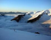 Finsteraarhorn - Im Zustieg über die Südwestflanke - mit herrlichsten landschaftlichen Eindrücken
