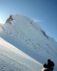 Finsteraarhorn - Das Ziel ist in Sicht - der Gipfelaufbau des Finsteraarhorns
