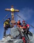 Auf dem Gipfel - und man soll es nicht glauben: ALLEIN auf dem Großglockner!