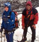 Lodner - Maria und Volker nach dem Wetterumbruch - es war plötzlich tiefster Winter.